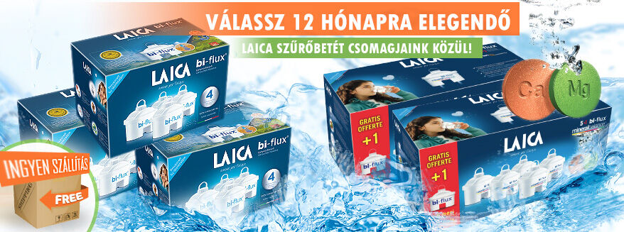 Éves vízszűrőbetét csomagok